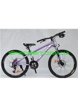 Велосипед Pelican 24 TRAFFIC рама-12 фиолет-белый