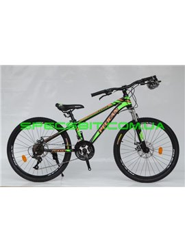 Велосипед Pelican 24 RANGER рама-12 черн-оранж-зел