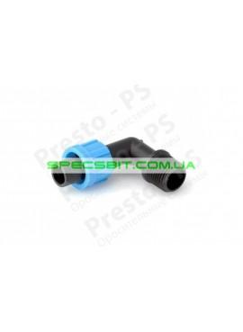 Старт угловой для ленты с наружной резьбой 1/2 дюйма Presto (Престо) № ME-0117-12