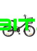 Велосипед городской/складной Formula Smart 20 с корзиной/рама-13 черный/зеленый OPS-FR-20-028