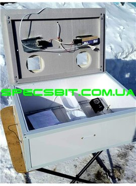 Инкубатор Курочка Ряба ИБ-100 цифровой, механический переворот 100 яиц в пластике