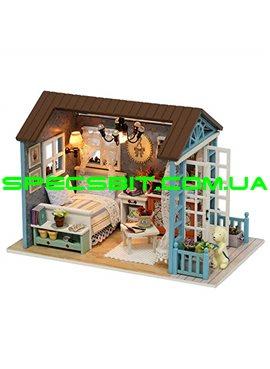 """CUTE BEE DIY House Конструктор домик с мебелью 3D """"Флигель"""" ручной работы Z-07"""
