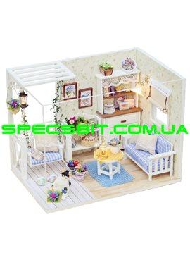 """CUTE BEE DIY House Конструктор домик с мебелью 3D """"Дачный домик"""" ручной работы H-13"""