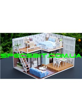 "CUTE BEE DIY House Конструктор домик с мебелью 3D ""Таунхаус"" L-23 Blue Times"
