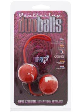 Вагинальные шарики Marbelized DUO BALLS,RED DT50505 Seven Creations