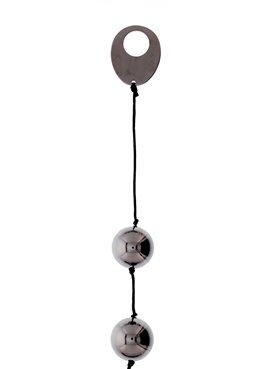 Шарики вагинальные DOMINO METALLIC BALLS, CHROME BLACK DT50903 Seven Creations